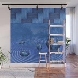 Blue World Wall Mural
