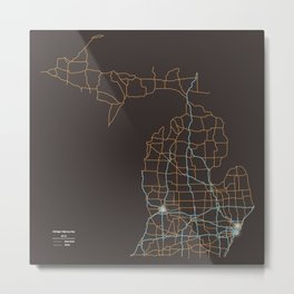 Michigan Highways Metal Print