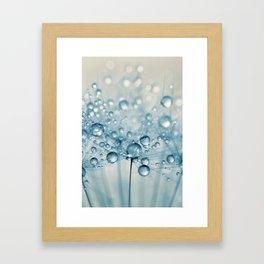 Dusky Blue Dandy Drops Framed Art Print