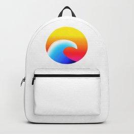 sunset wave Backpack