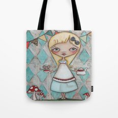 Alice and the Dormouse  Tote Bag