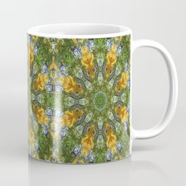 Yellow Tree Flower Kaleidoscope Art 6 Coffee Mug