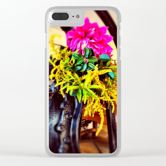 Tools and flowers II Clear iPhone Case