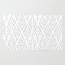 Grey Abstract Paisley Feathers Rug