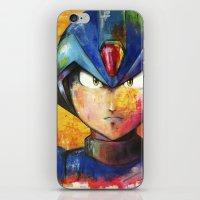megaman iPhone & iPod Skins featuring Megaman by Jhaiku