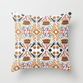 LUNA Folk Moon Throw Pillow