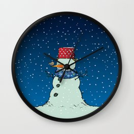 A song for Mr. Snowman Wall Clock
