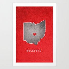 Ohio State Buckeyes Art Print