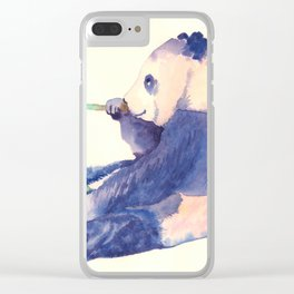Panda Clear iPhone Case