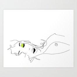 les yeux chartreux Art Print