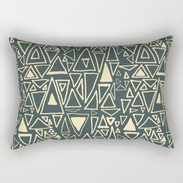 Chaotic Angles in Slate by Deirdre J Designs Rectangular Pillow