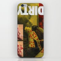 dirty dancing iPhone & iPod Skins featuring Dirty by Molly Halligan