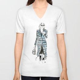 New York City Fashion Week Art Print Unisex V-Neck