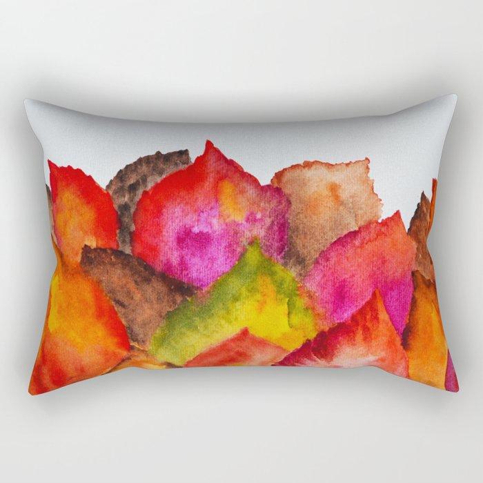 Autumn abstract watercolor 01 Rectangular Pillow