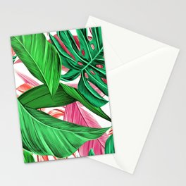 Tropical Leafs Stationery Cards