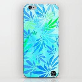 Blue Mint Cannabis Swirl iPhone Skin