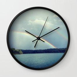 Rainbow Showers Wall Clock