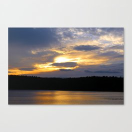 Sunset at Concord's Walden Pond 12 Canvas Print