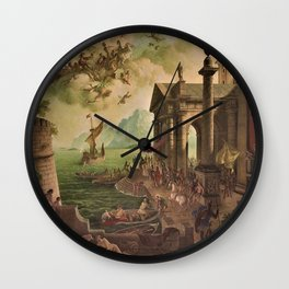 Ulysses Farewell to Penelope Seaport Landscape by Rex Whistler Wall Clock
