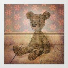 Barely Bear - A Vintage Teddy Canvas Print