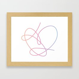 BTS Love Yourself Answer Heart Framed Art Print