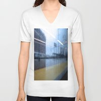philadelphia V-neck T-shirts featuring Philadelphia Rain by Ashlee Sekulich