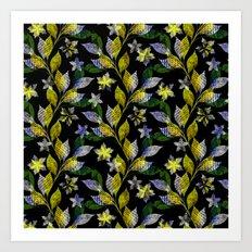 Floral pattern . Art Print