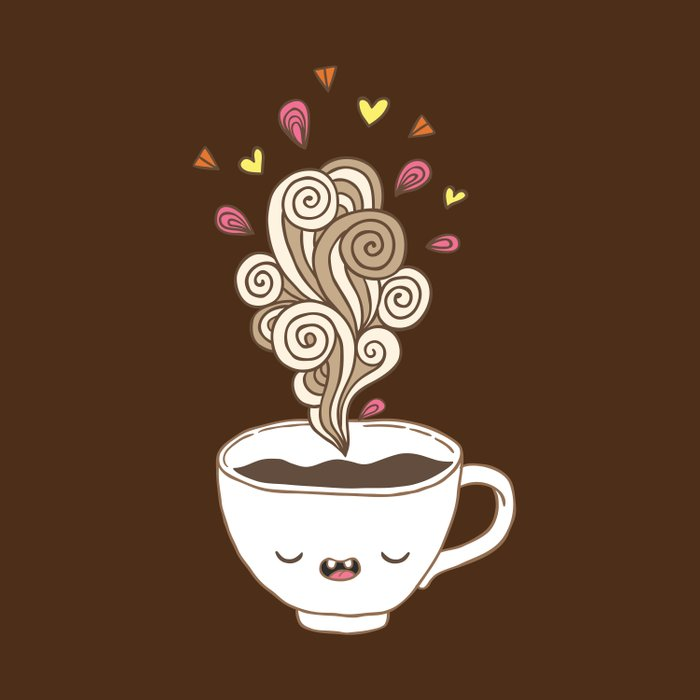 Saturday coffee Duvet Cover