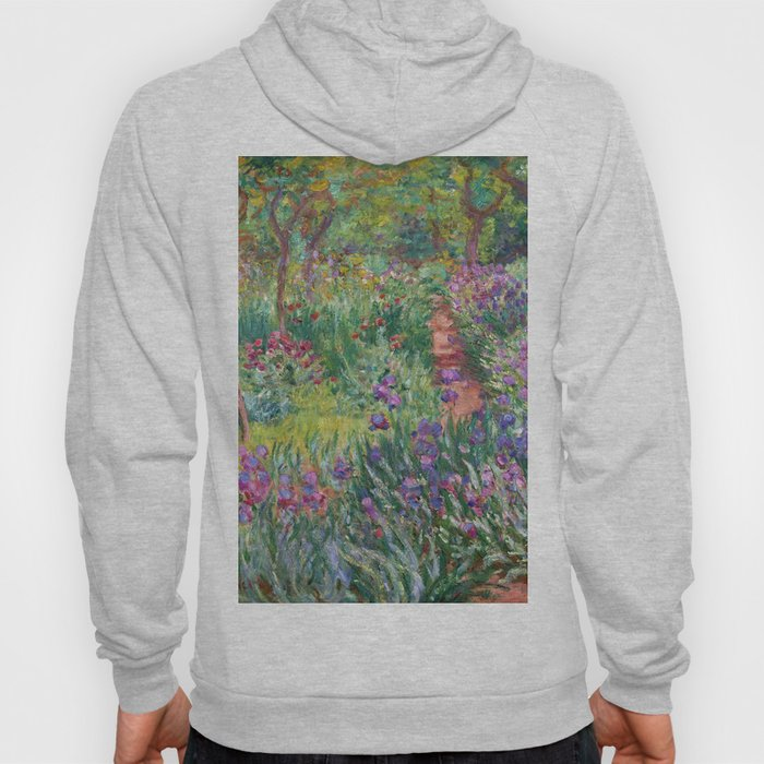 The Iris Garden at Giverny by Claude Monet Hoody