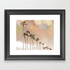 Bokeh Palms Framed Art Print