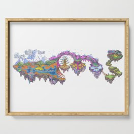 A Journey Psychedelic Art Illustration Serving Tray