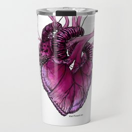 Buttefly Heart Pink Travel Mug