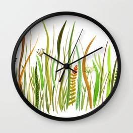 Prairie Watercolor by Robayre Wall Clock