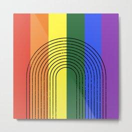 LGBTQ + Rainbow Love is Love Metal Print