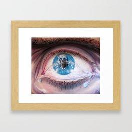 Death in the eyes Framed Art Print