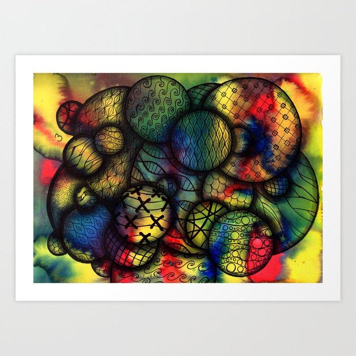 Tangled on Tie-Dye Art Print