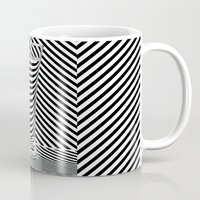 striped Mugs featuring Striped Water by Steve Purnell