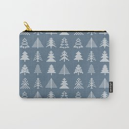 Merry Christmas- Simple Hand Knit Xmas Tree Pattern Carry-All Pouch