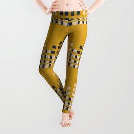 Layered Geometric Block Print in Mustard Leggings