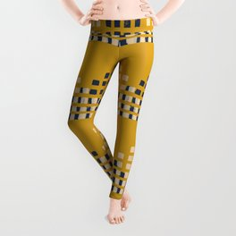 Layered Geometric Block Print in Mustard Leggings