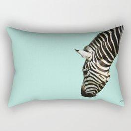Zebra by Kokatu MINT Rectangular Pillow