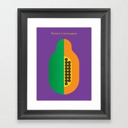 Fruit: Papaya Framed Art Print