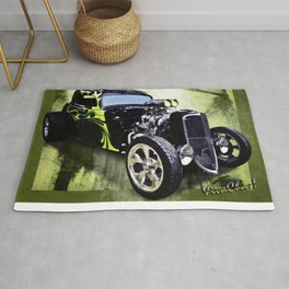 1934 Ford Three Window Coupe Hot Rod Rug
