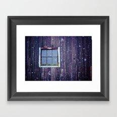The Snow Falls Down Framed Art Print