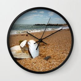 She Sells Clam Shells Wall Clock