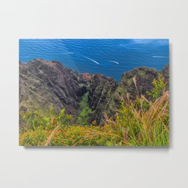 Na Pali Coast Awaawapuhi Valley Metal Print