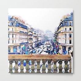 Paris Avenue De L'opera Moderne Metal Print