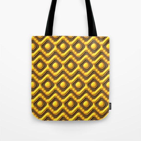 Liquid Gold Pattern Tote Bag