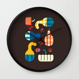 Autumn Gourds Wall Clock