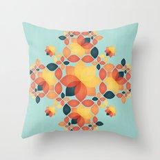 Orange Garden Pattern Throw Pillow